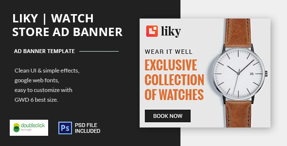 awesome Watch Shop - HTML5 Animated Banner Template (Ad Templates ...
