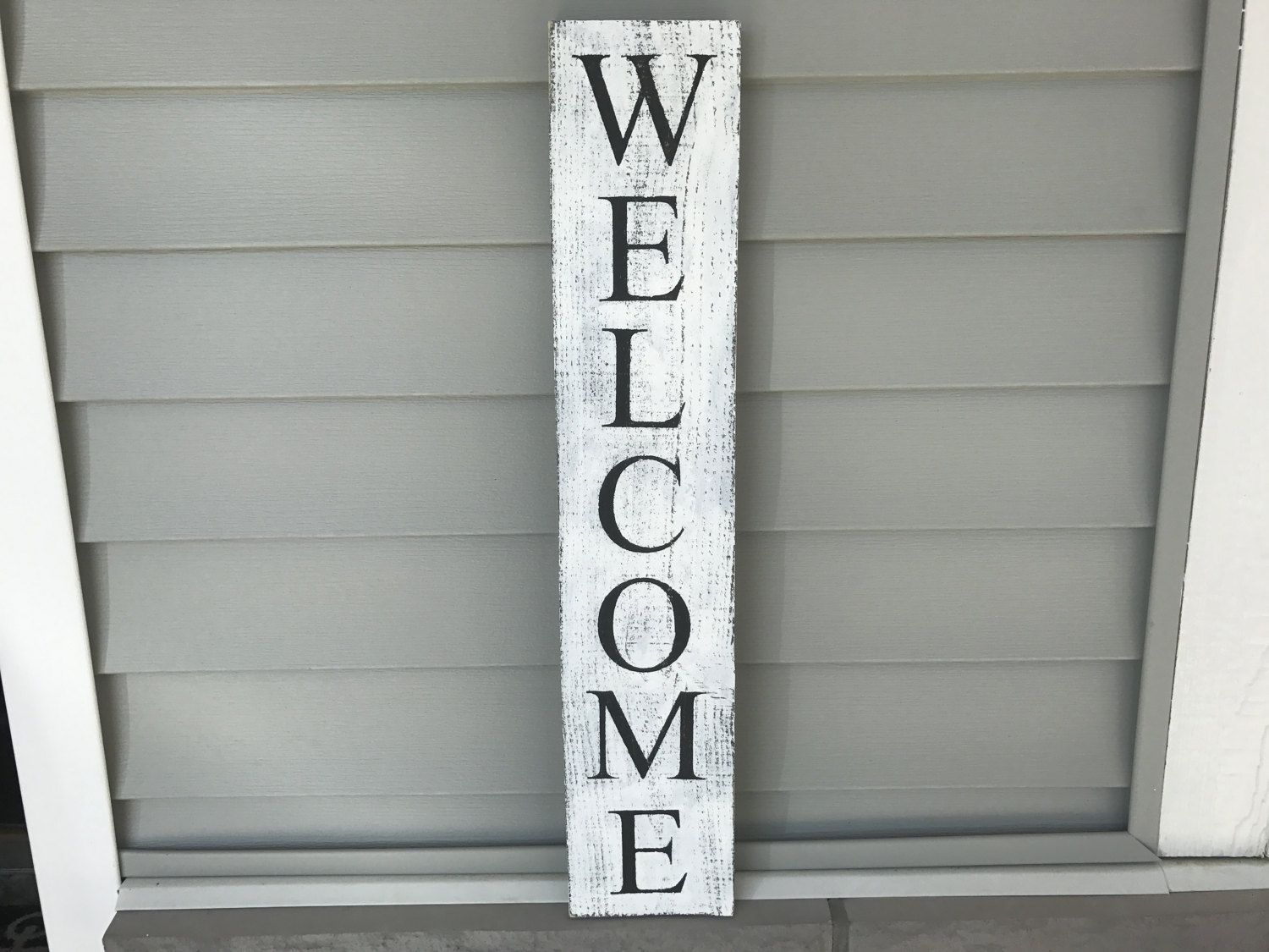 Vertical Welcome Sign Farmhouse Country Wall Art Rustic Black And White Wood Porch Signage Entryway By Country Wall Art Wooden Welcome Signs Rustic Black