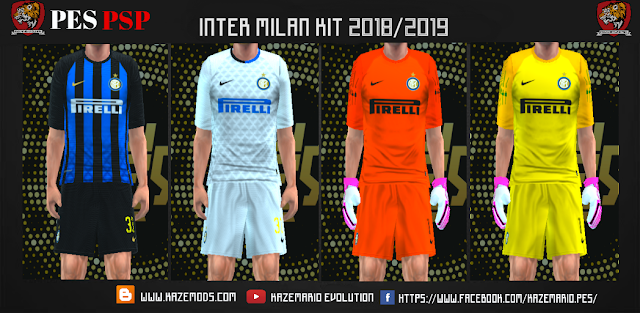Inter Milan Kits Season 2018/2019 Kits PES PPSSP | soccer game