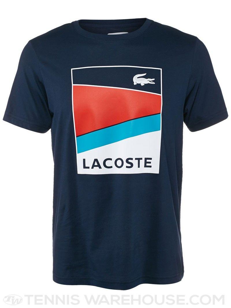 Lacoste Men\u0027s Spring Geometric Stripe T-Shirt