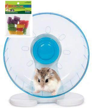 Amazon Com Robo Hamster Wheel 8 Inch Prevue Quiet Wheel With Bearings Bundled With Ware Rice Pops Pet Supplies Robo Hamster Hamster Wheel Hamster Supplies