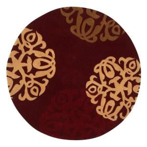 Home Decorators Collection Chadwick Burgundy Gold 8 Ft Round Area Rug 0006135150 At