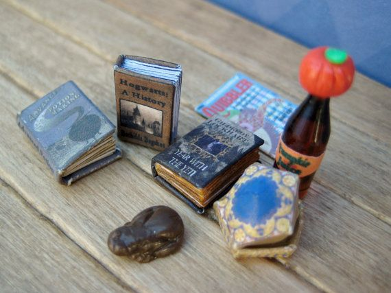 Advanced Potion Making textbook from Harry Potter in super tiny half inch dollhouse miniature scale