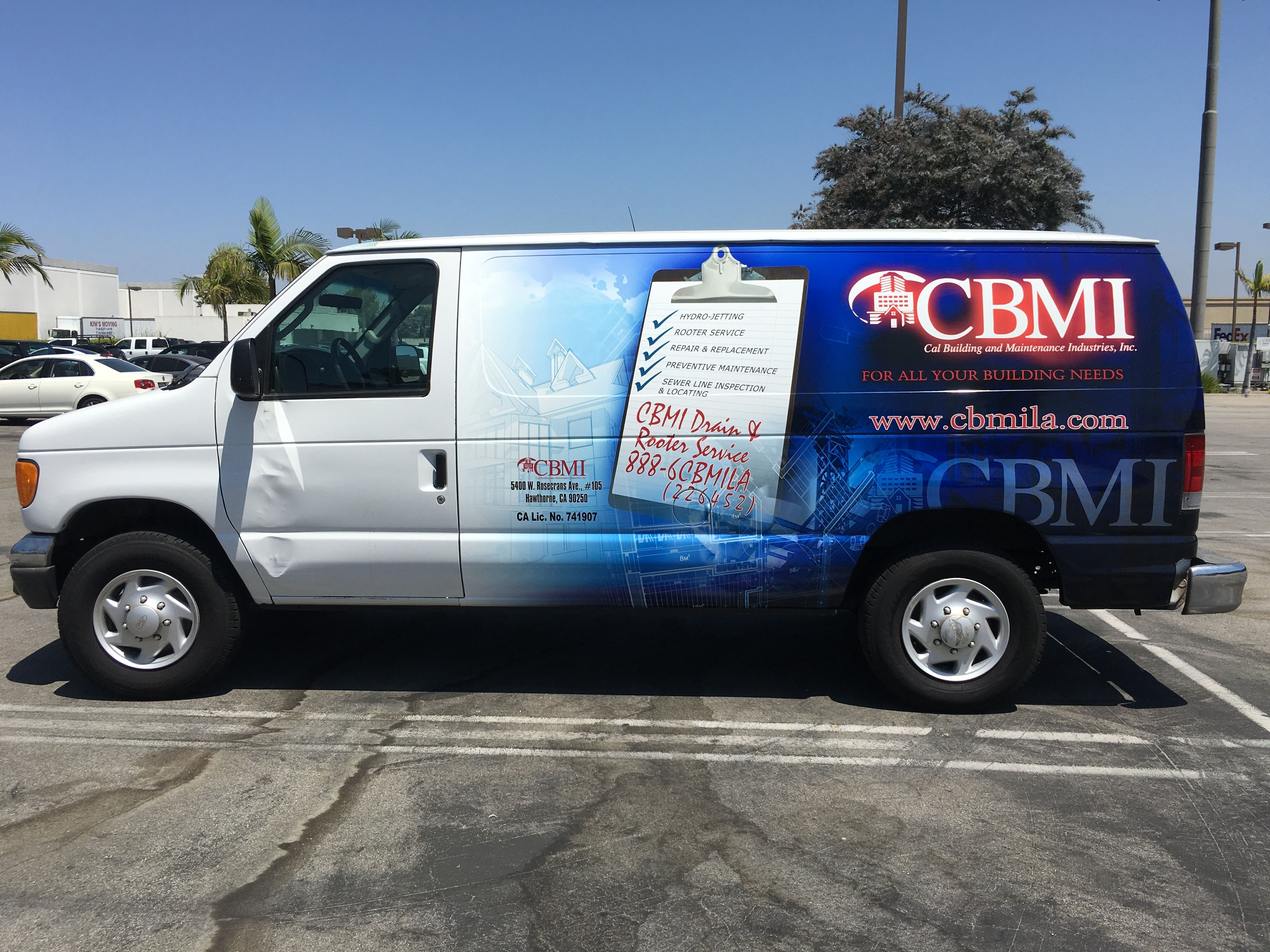 Mobile advertising skinzwrap van for cbmi mobile