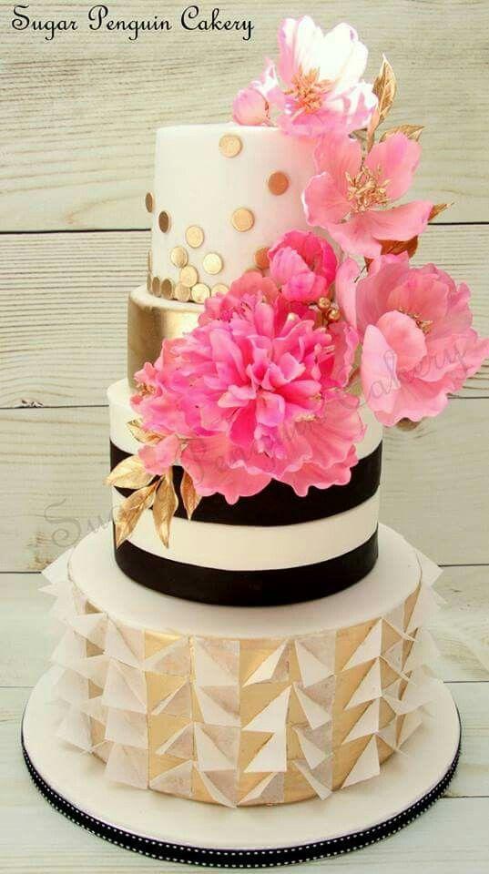 Roze goud Inspiratie Bruidstaarten Pinterest Cake Eat cake