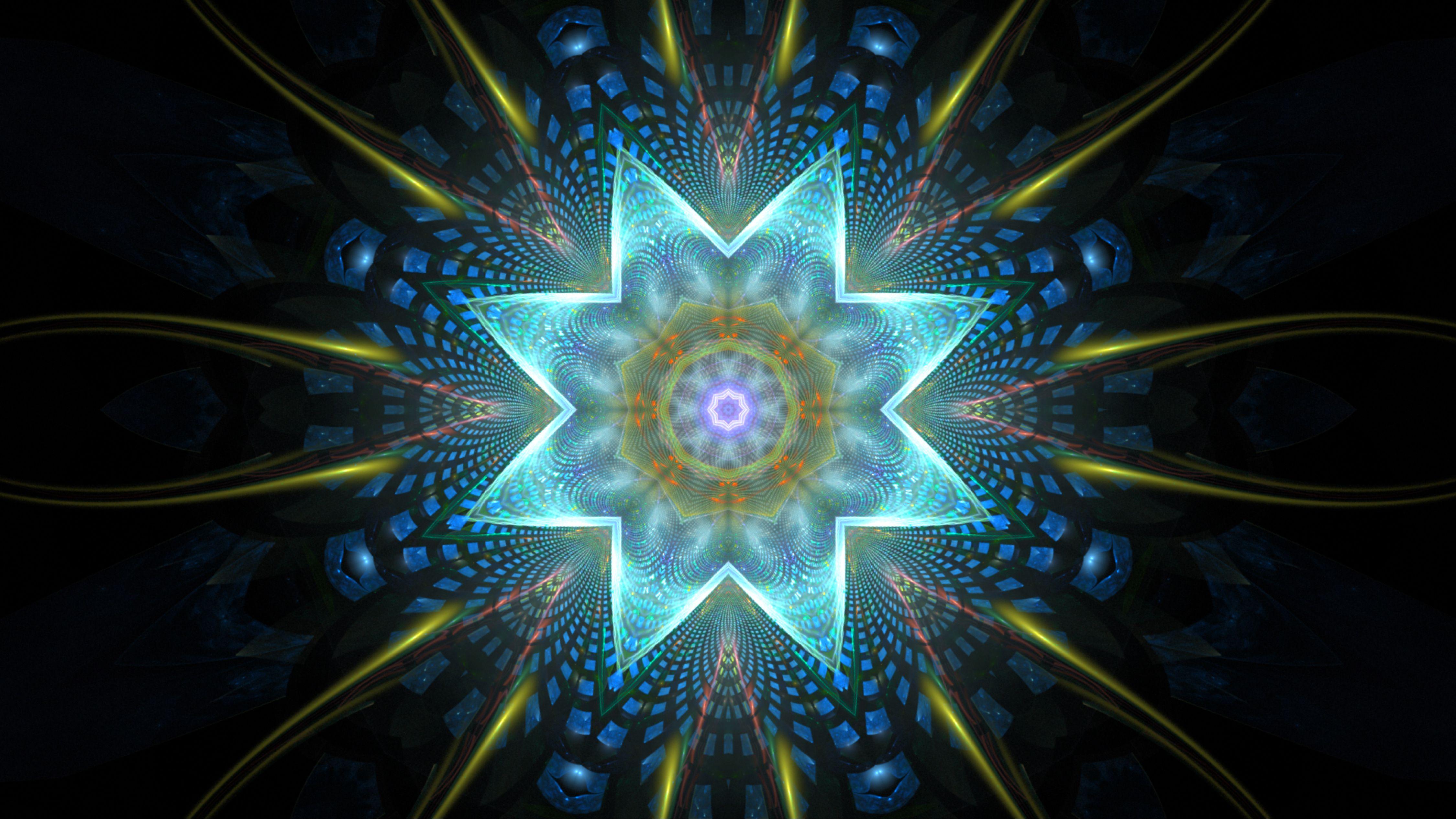 Kaleidoscope Free Hd Wallpaper By Luisbc On Deviantart Kaleidoscope Images Free Hd Wallpapers Fractal Art