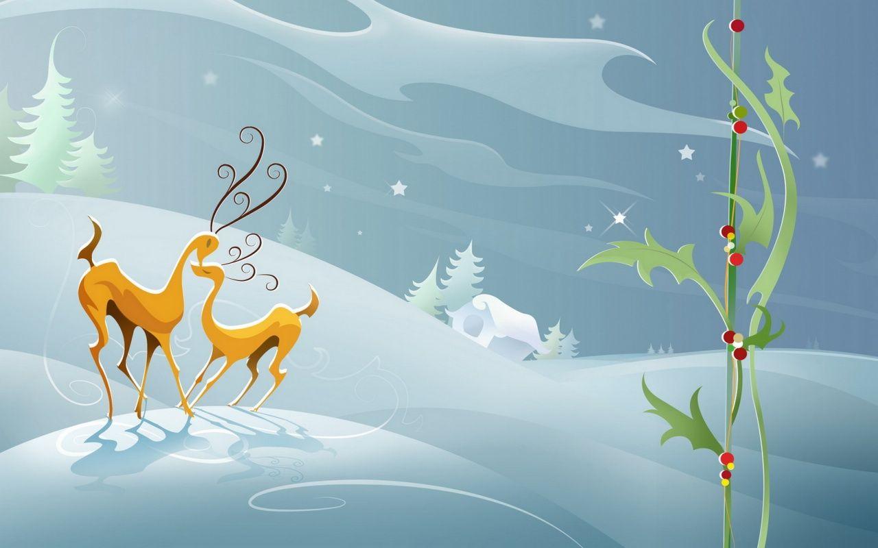 Fondo Escritorio Nevada Navideña: Nieve En Navidad 1024x768