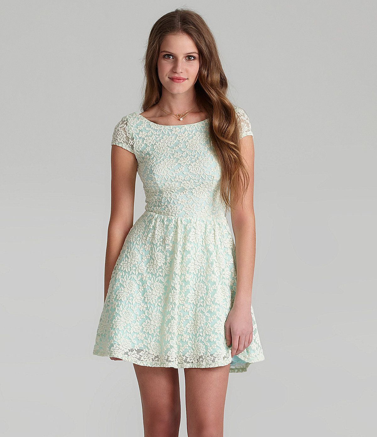 B Darlin Cap Sleeve Lace Skater Dress Dillards Com Lace Skater Dress Derby Attire Dresses [ 1391 x 1200 Pixel ]