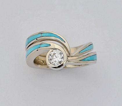 Southwest Wedding Engagement Rings Turquoise