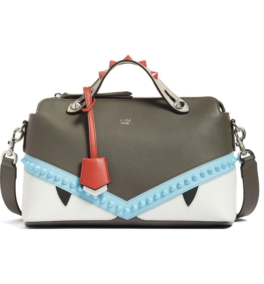 Fendi By the Way - Sleepy Monster Convertible Leather Shoulder Bag