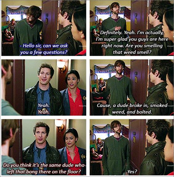 Bong Brooklyn Nine Nine Quotes Season 1 Episode 1
