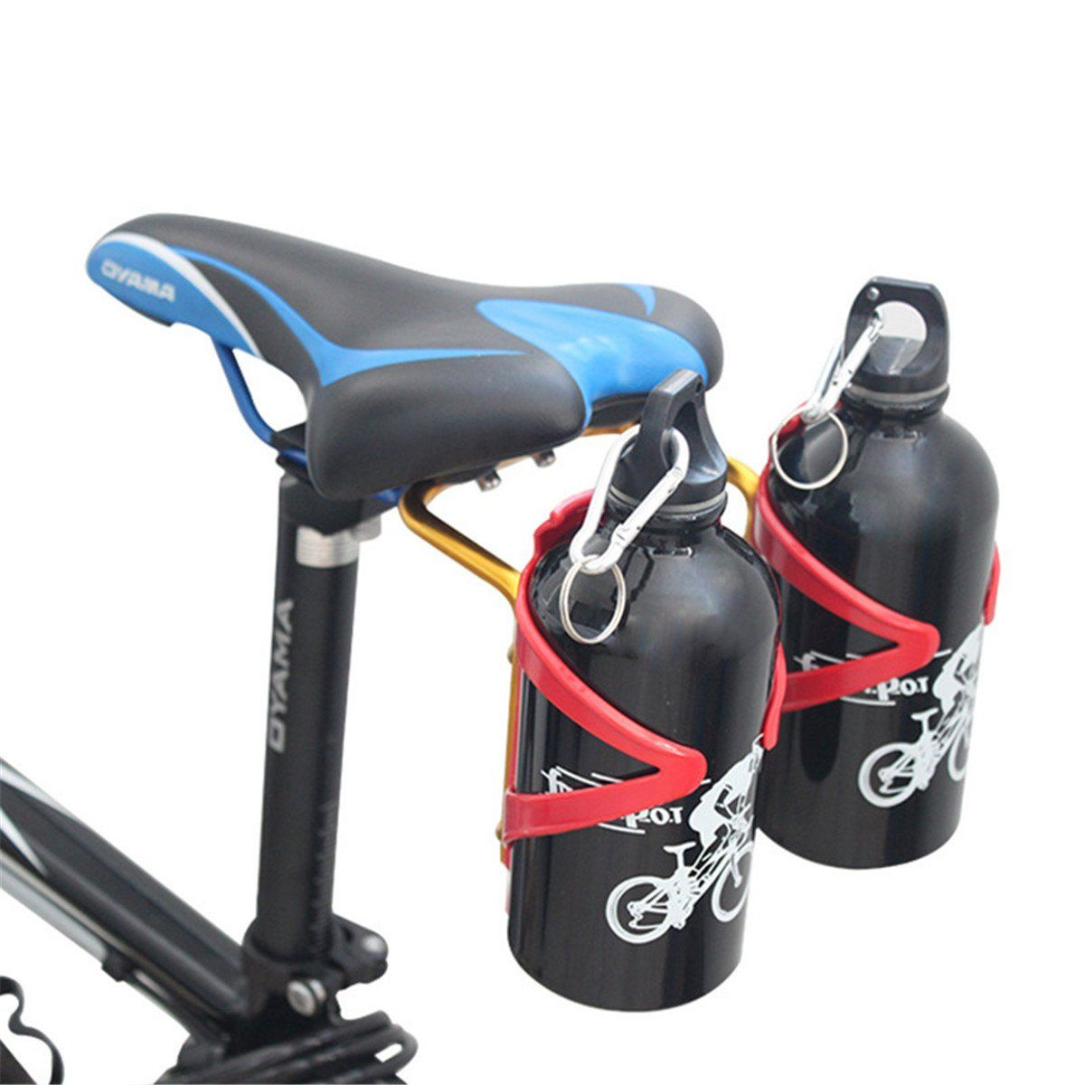 Aluminum Water riding mtb Bottle Holder Bicycle Drink Rack Useful Accessories D