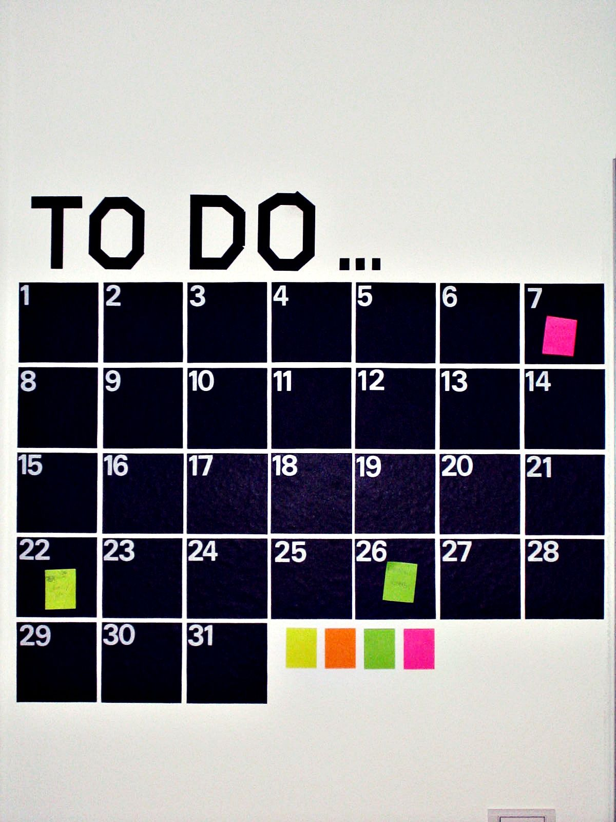 Tafelfolie In Der Küche Kalender Aus Tafelfolie Diy Ideas So Cool