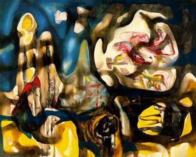 ARTE, PINTURA Y GENIOS.: Roberto Matta: Un mundo surreal con abstracto sabor.Agua(1939)