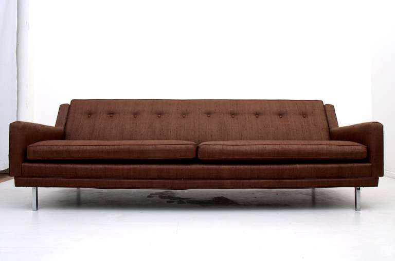 Mid Century Modern Sofa Clean Lines Milo Baughman Attr | sofa