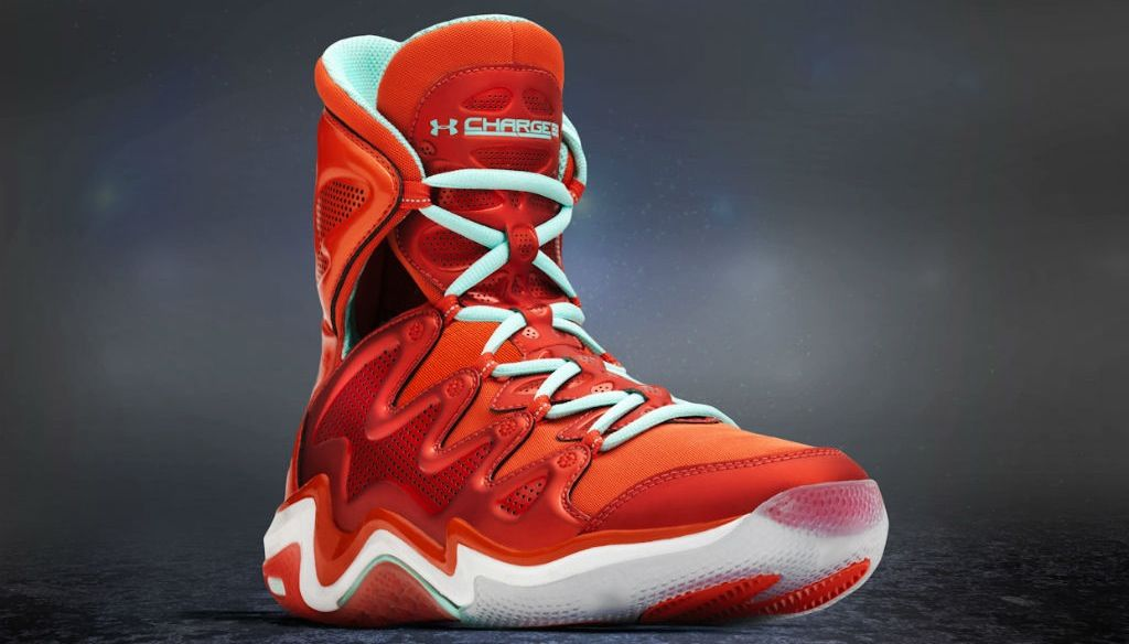 High top basketball shoes