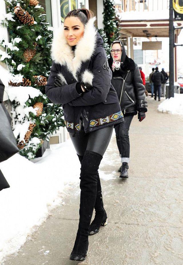 83dfe09d7b3b0f How Olivia Culpo Wears Leggings in Sub-Zero Temps