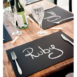 Chalkboard Place Mats X 6 Ideal for Dining Entertainment: Amazon.co.uk: Kitchen & Home