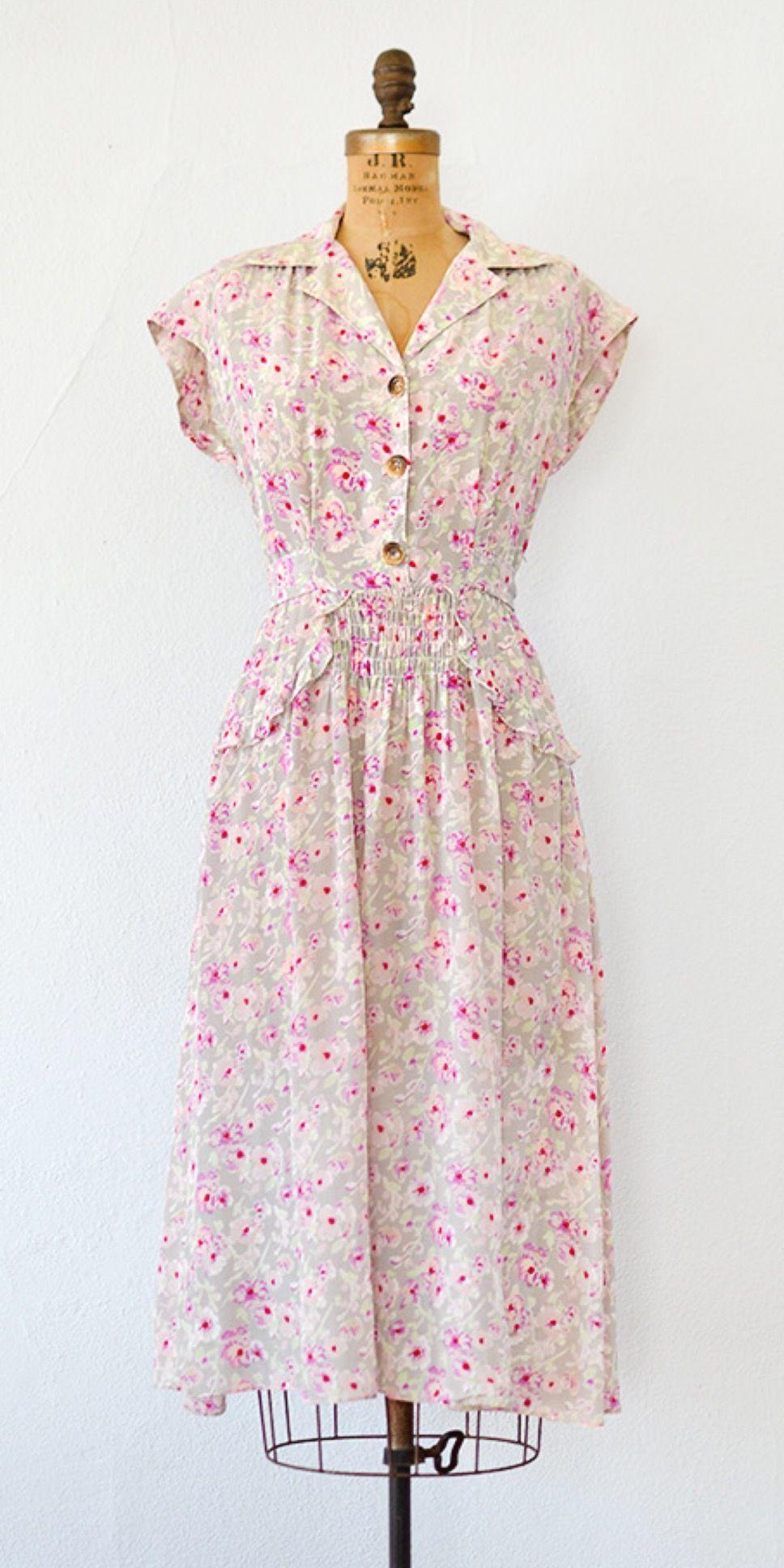 40s Floral Dress #1940sdress