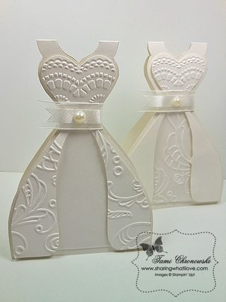 TUTORIAL - WEDDING DRESS CARD - Sharing What I Love   Stampin Up ...