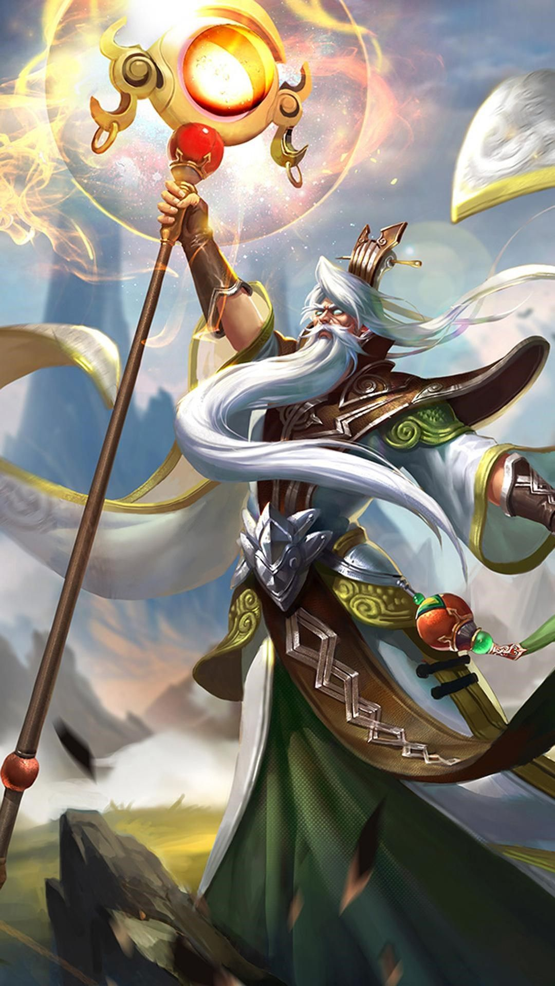 King glory Jiang Ziya Game Poster iPhone 6 wallpaper