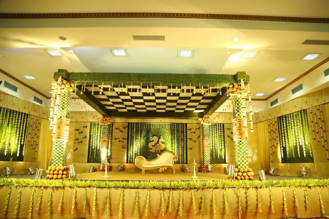 Sri Raghavendra Decorators Decorators Raghavendra Sri Traditional Wedding Decor Wedding Stage Decorations Wedding Backdrop Decorations