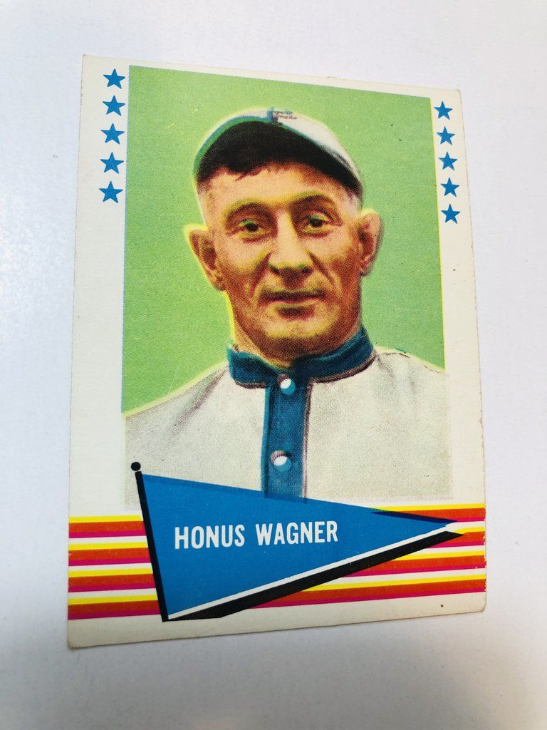 1961 Fleer Honus Wagner rare high grade baseball card in