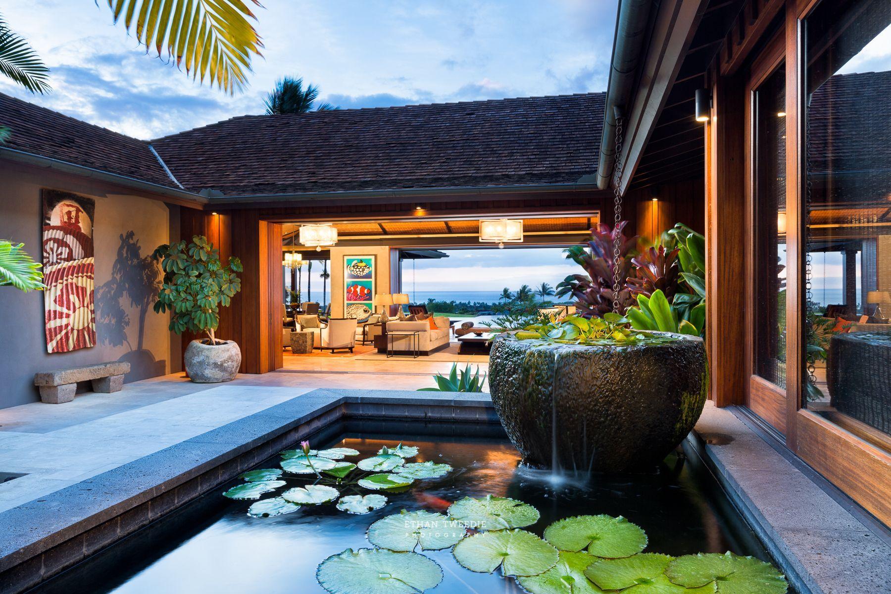 Luxury Real Estate Big Island Hawaii Hualalai Four Seasons Hualalai Interior Design Photography Vacation Ren Courtyard House Plans Bali House Architecture