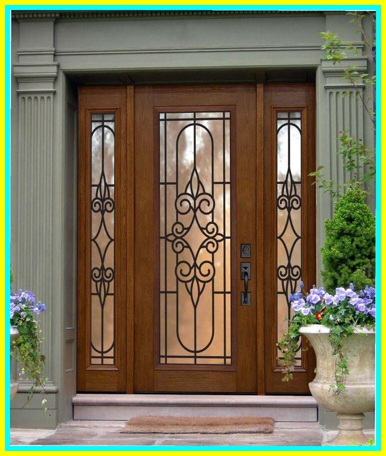 113 Reference Of Black Front Door With Sidelights Home Depot In 2020 Door Glass Design Fiberglass Entry Doors Entry Door With Sidelights