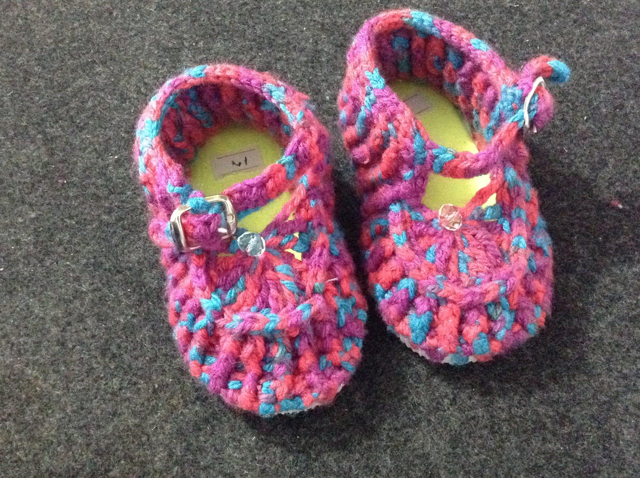 zapatos tejidos Zapatos para bebé crochet, tejidos.   Vídeos ...