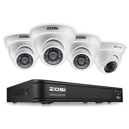 ZOSI 4CH 4 Channel 1080p HD Hybrid CCTV DVR Recorder for Security Camera System