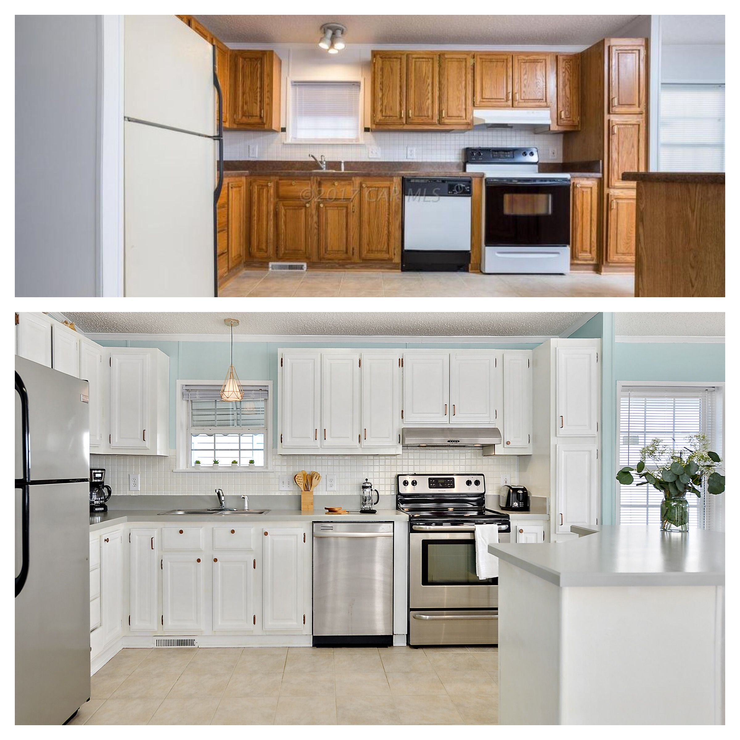 Before and after! Look what you can do to your outdated