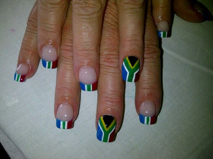 Freehand south african flag sa nail academy nail art i like freehand south african flag sa nail academy prinsesfo Images