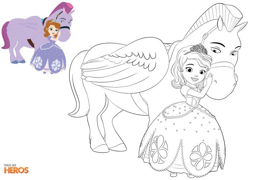 Coloriez #Sofia La Princesse ! #coloriage #princesse sur www.tous-les-heros.com ! | Coloriage ...