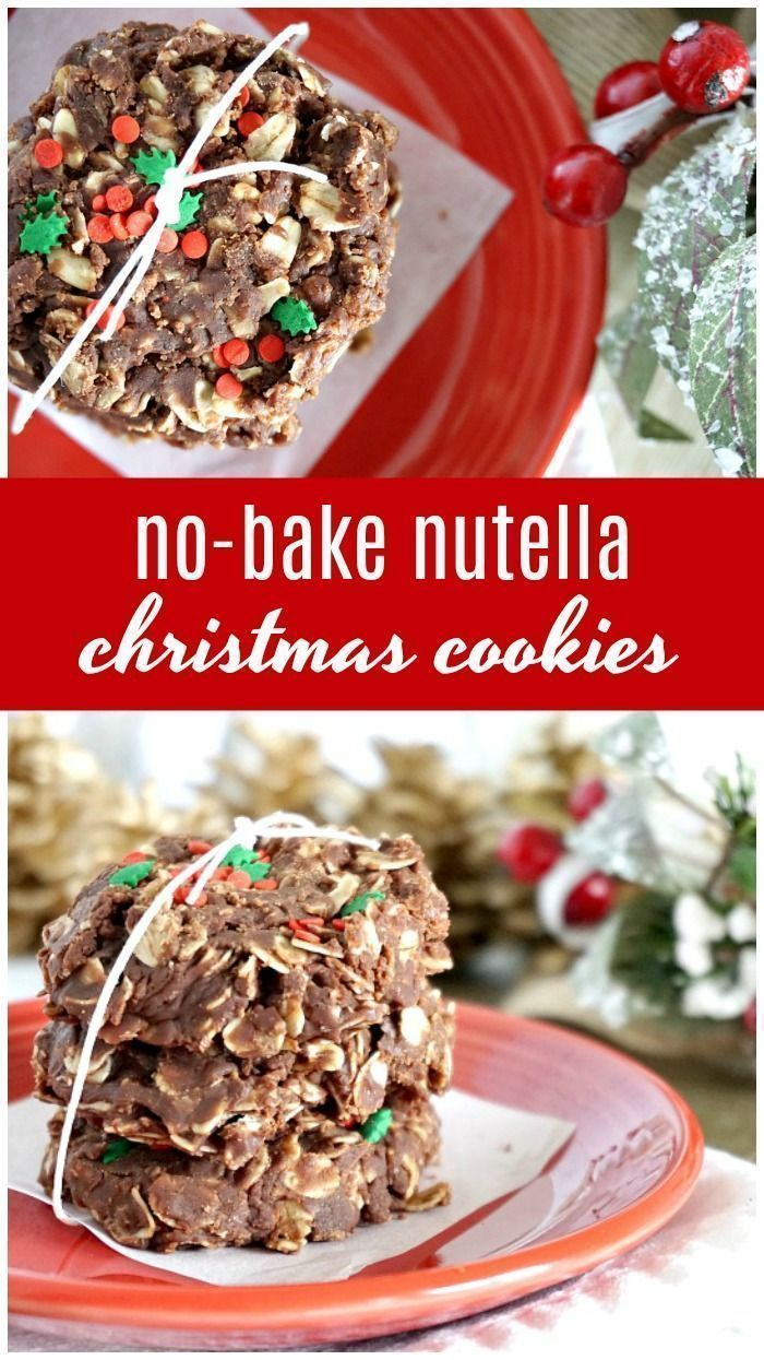 Bake Nutella Christmas Cookies Recipe No Bake Nutella Christmas Cookies Recipe Easy Dessert Recipe for a Cookie Exchange or Holiday Party Christmas Gift Idea for Neighbor...