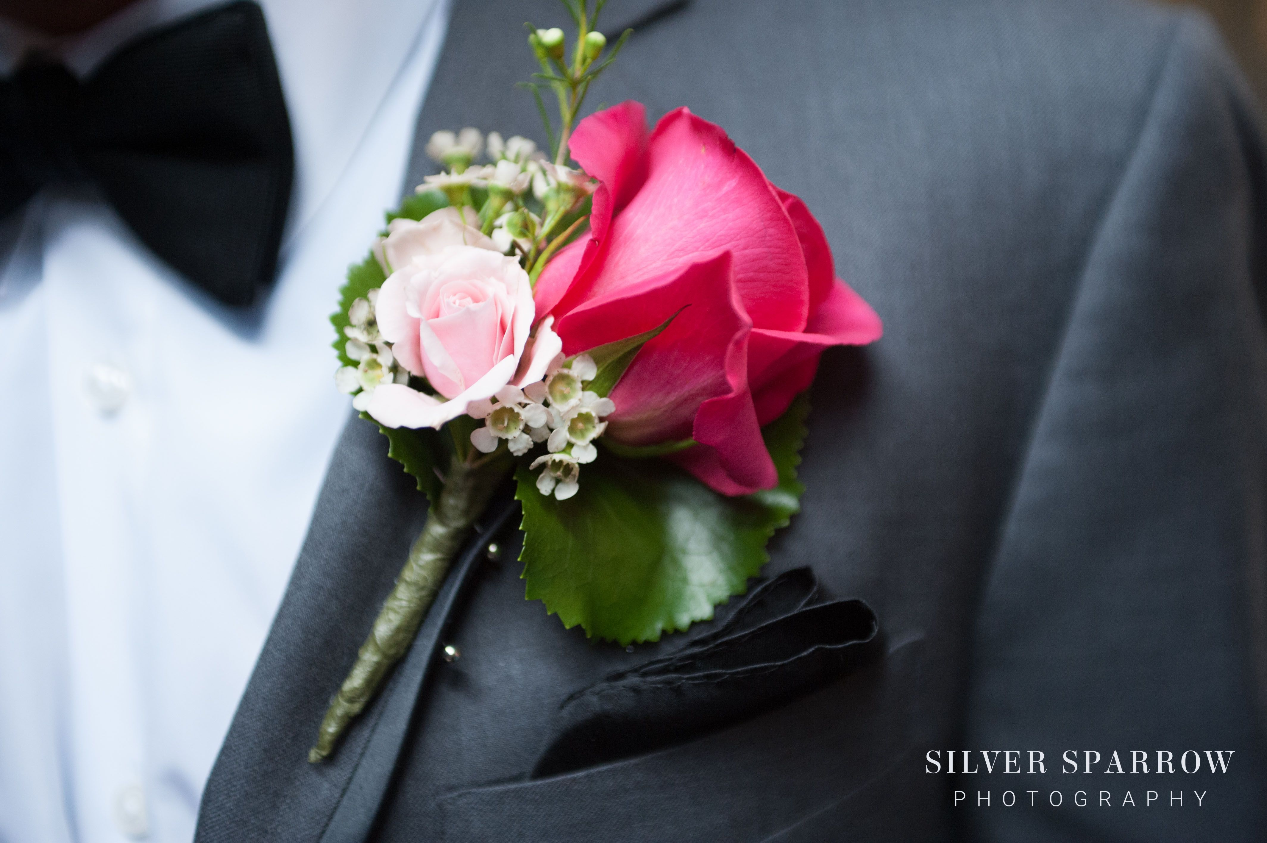 These Bright Pink Rose Boutineer Boutonniere Are Perfect For A
