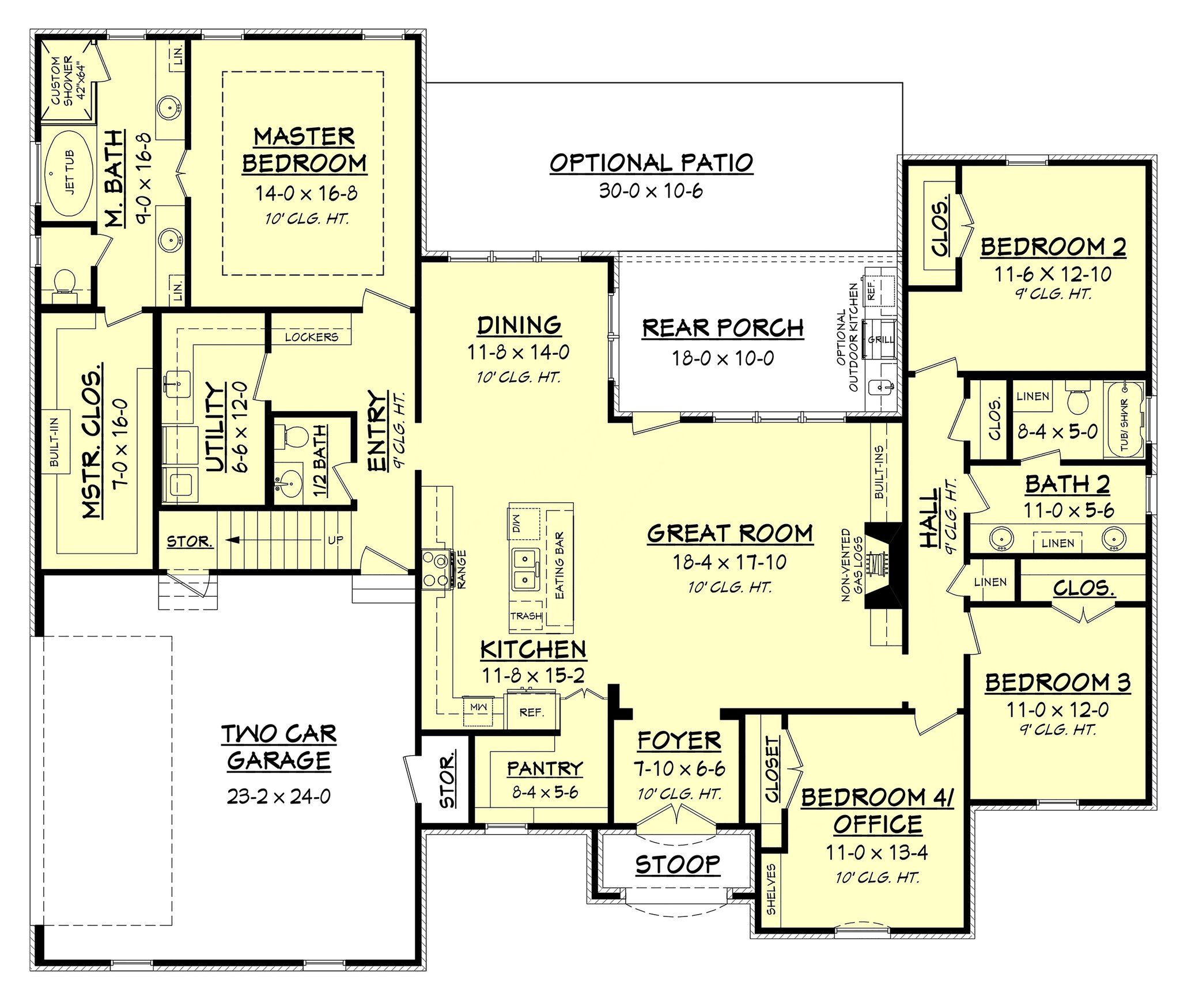 Cypress Lake House Plan Bonus Rooms Open Concept And Pantry