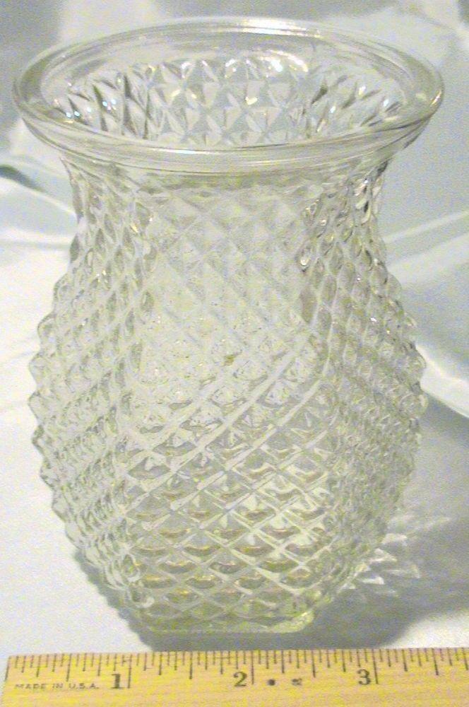 Vintage Hoosier 4071 Glass Pineapple Vase Vintage Collectibles