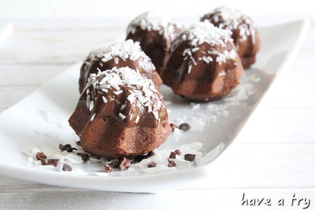 Mini-Gugel Schoko-Kokos (vegan) #ichbacksmir #gugl
