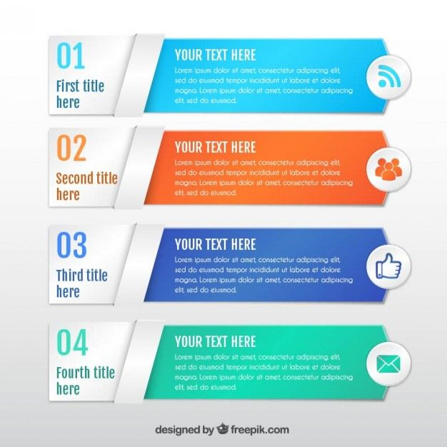 Colored infographic banners template I Free Vector 科技 - advertising timeline template