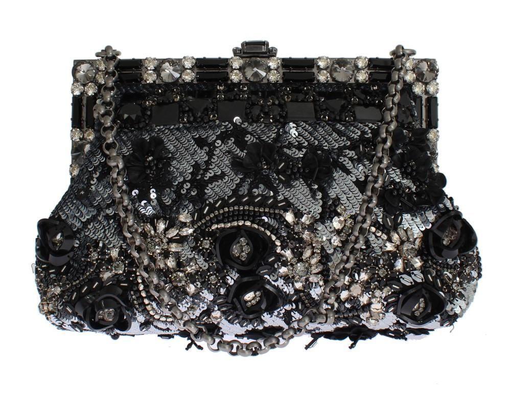 Black Crystal VANDA Sequined Bag  61c0ef06579