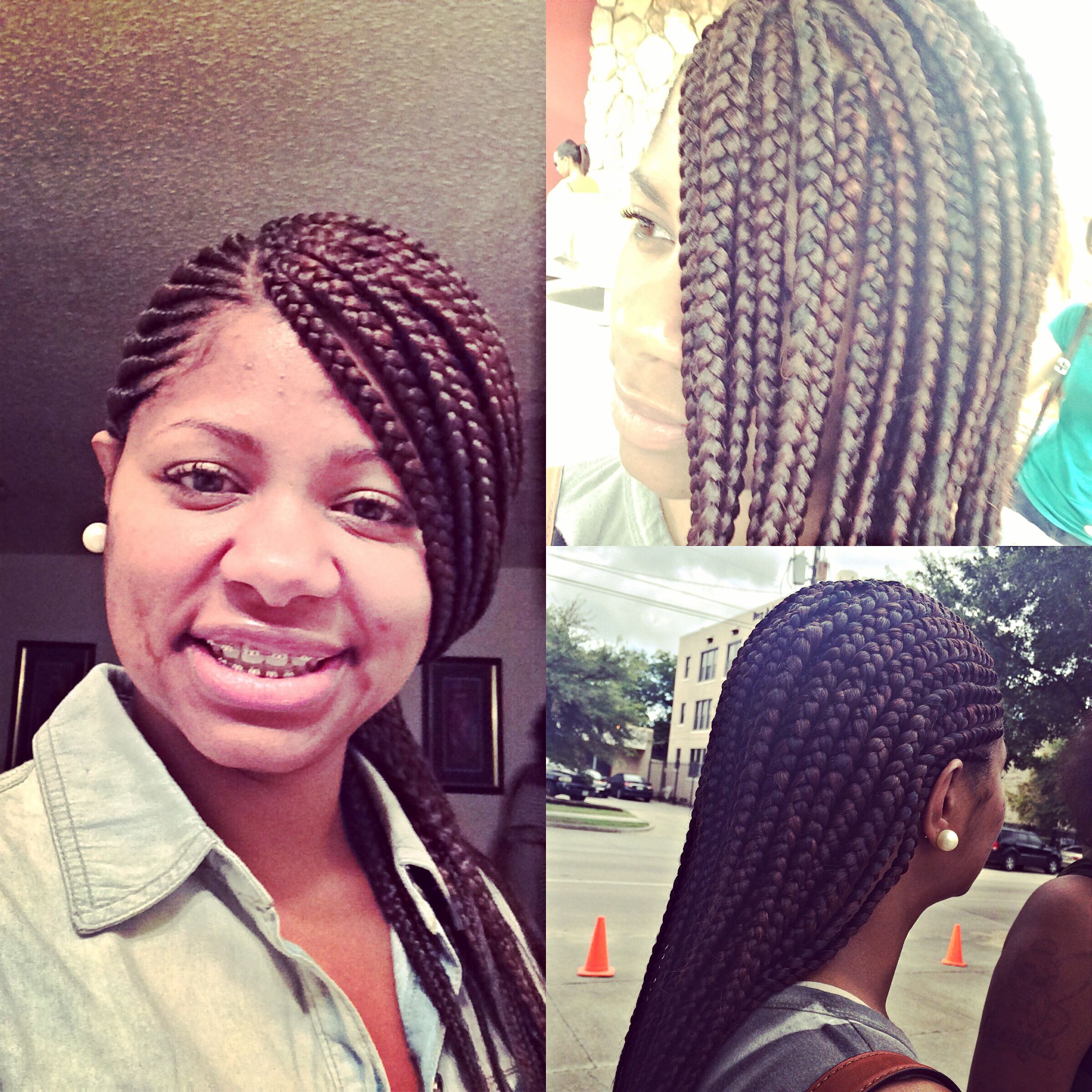 Ghana Cornrows/box braids Cornrows with box braids