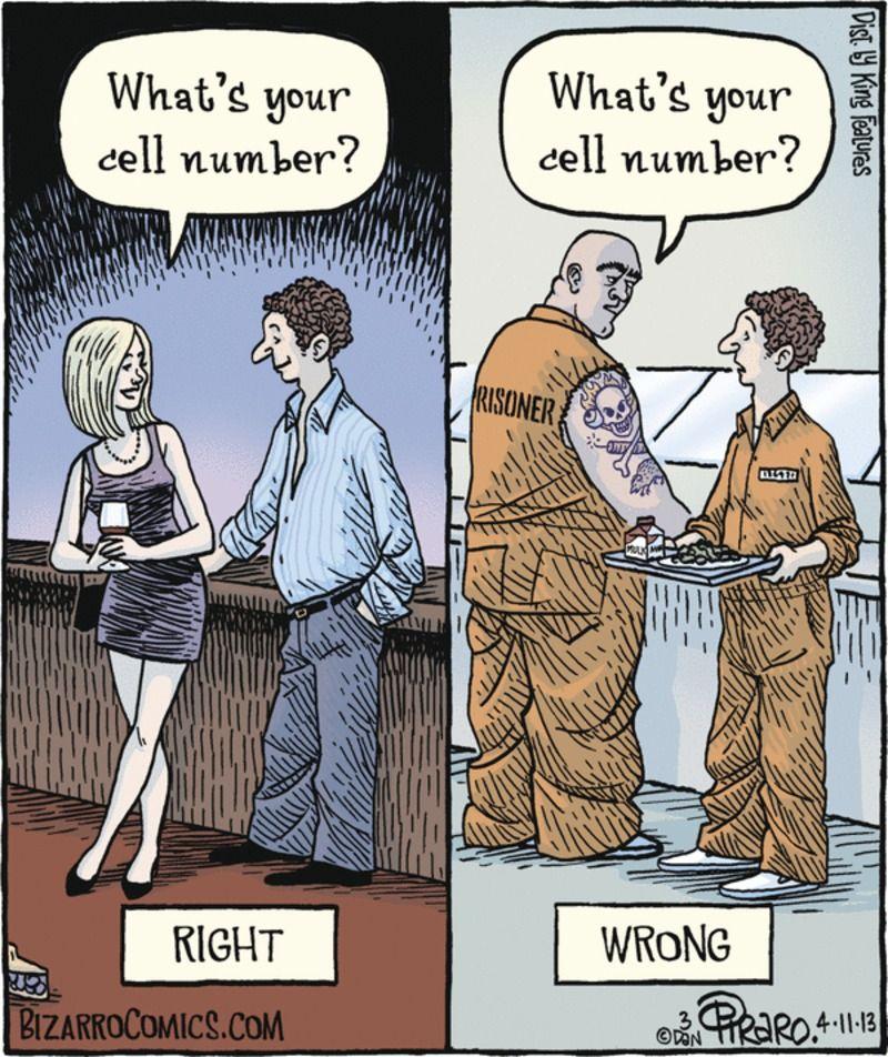 cell number Prison humor, Prison jokes, Bizarro comic