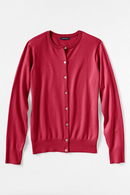 Women's Supima Cardigan Sweater from Lands' End | Christmas Card ...
