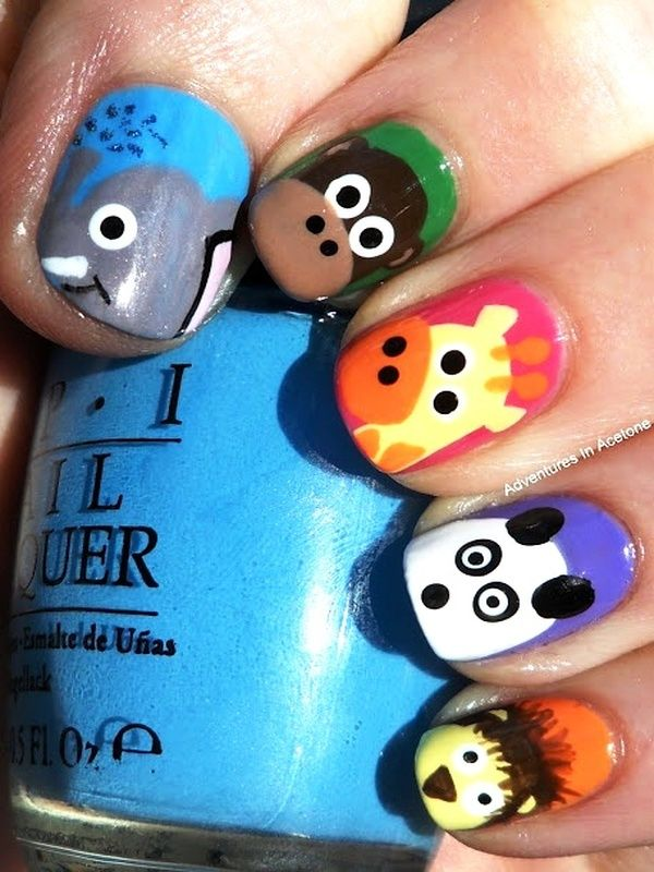 25 Super Cute Kid-Approved Nail Art Designs   Pinterest   Animal ...
