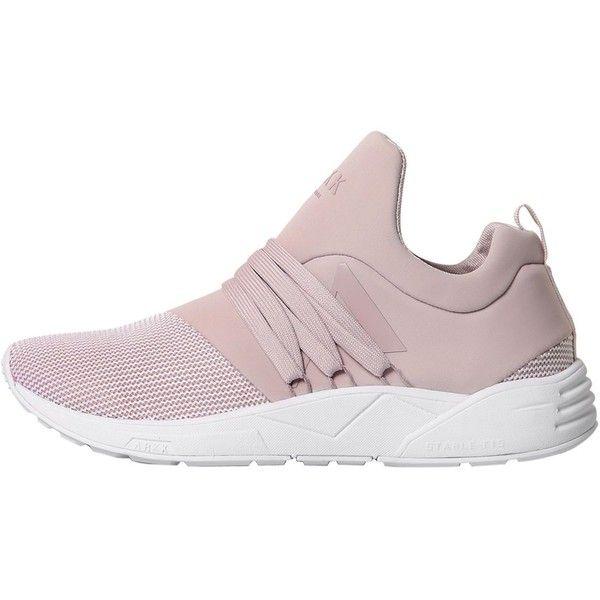 Arkk Copenhagen Women Raven Mesh & Neoprene Sneakers ($93) ❤ liked on  Polyvore featuring