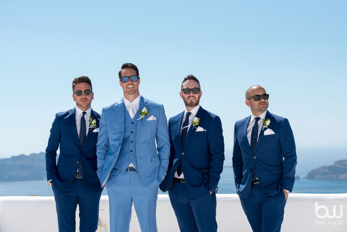 Wedding in Santorini | Three piece suits, Weddings and Themed weddings