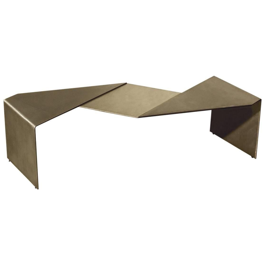 Fold bench by uhuru design antique brass