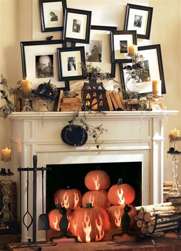 37 Elegant Halloween Mantel décor You Must Try In Halloween 2019 #eleganthalloweendecor