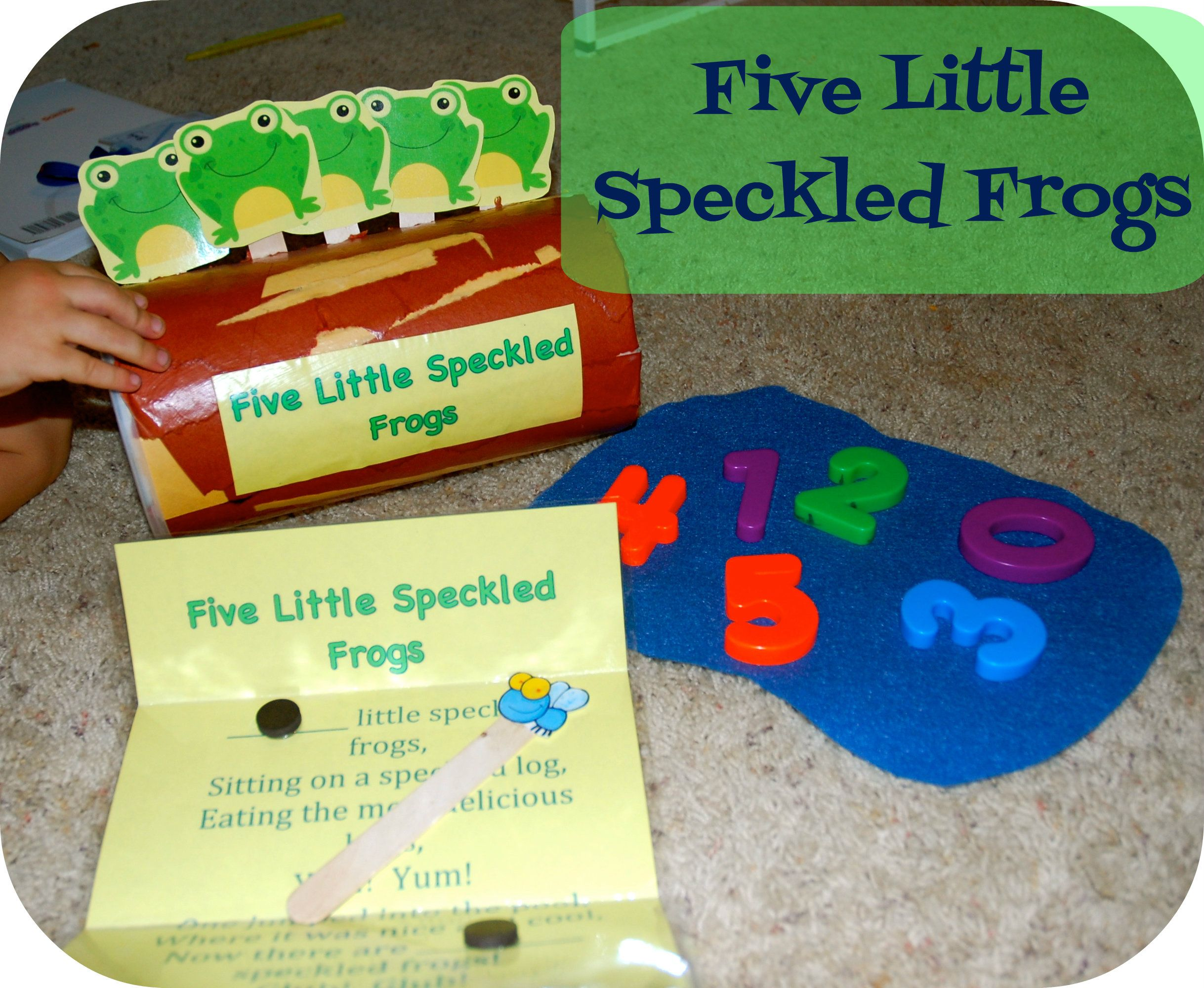 Five Little Speckled Frogs With Printable